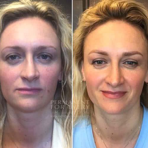 перманентный макияж всего лица