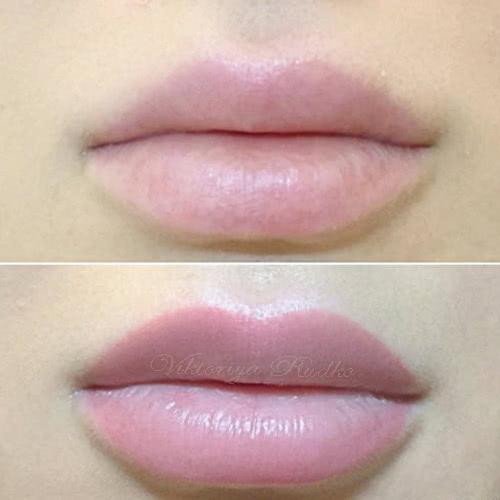 натуральный татуаж губ