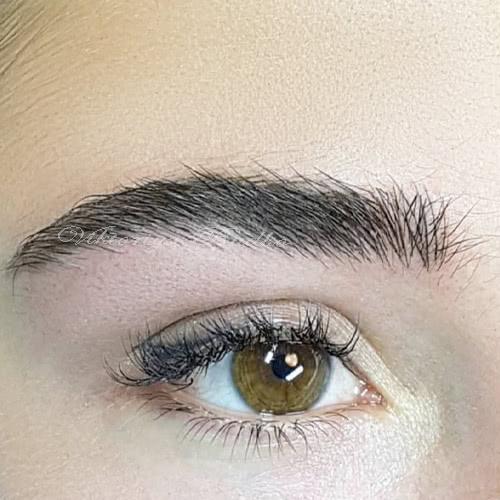 перманентный макияж бровей волоски