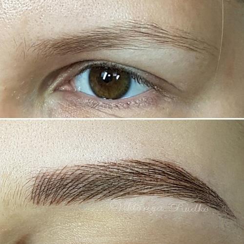 волосковый татуаж до и после процедуры