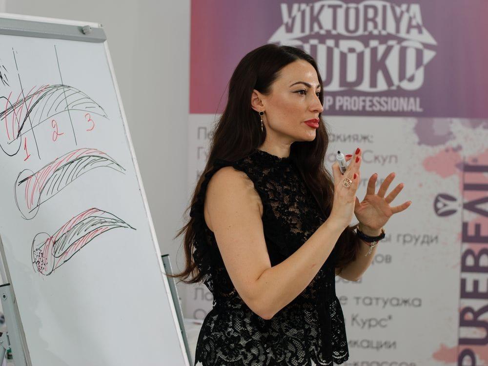 Виктория Рудько тренинг по перманентному макияжу Киев