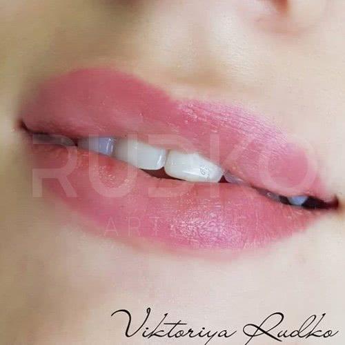 натуральный татуаж губ фото рудько
