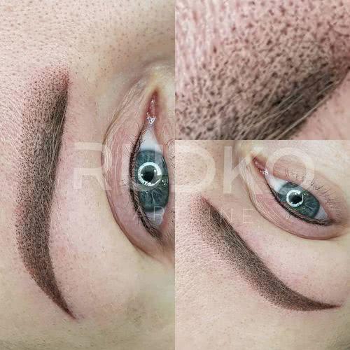 татуаж пудровые брови фото сразу