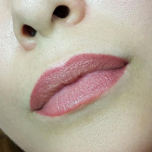 зажившие губы пигмент Пьюбо Purebeau