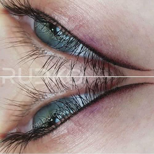 Glamorous permanent eyeliner attracts like a magnet!