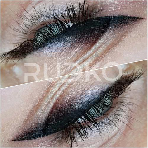 Expressive permanent eyeliner makeup