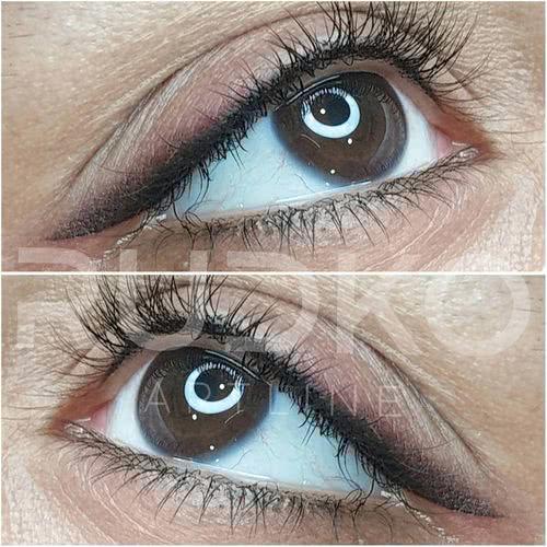 перманентный макияж глаз киев растушевка