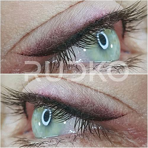 An arrow with smoky feathering is suitable for a mature eye