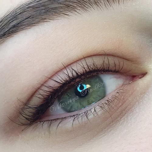 Татуаж глаз:  стрелки верхнего и нежнего века с фото