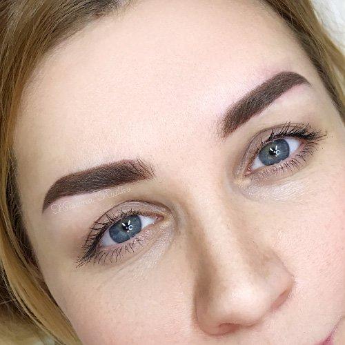 перманентный макияж для блондинки