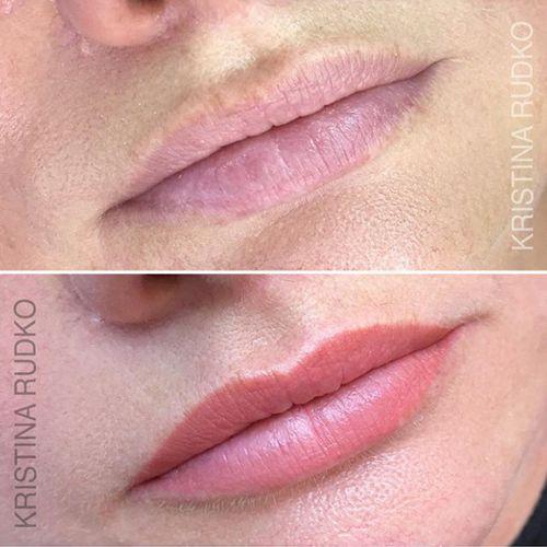 перманентный макияж губ киев до и после заживления