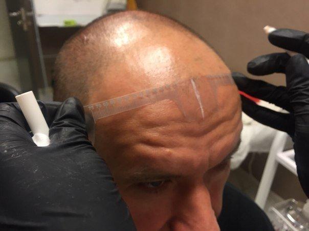 линейка трафарет для татуажа