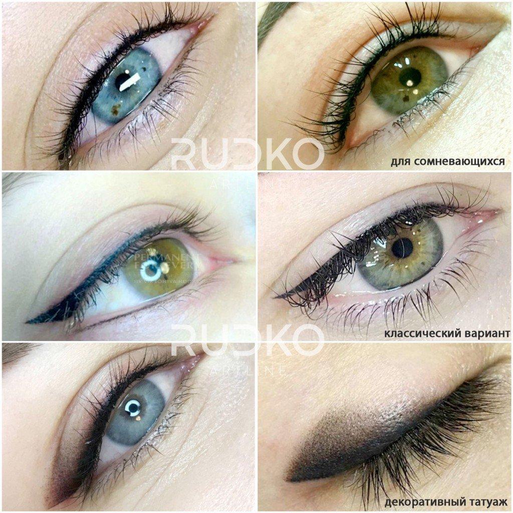 Татуаж глаз: стрелки классические или с растушевкой