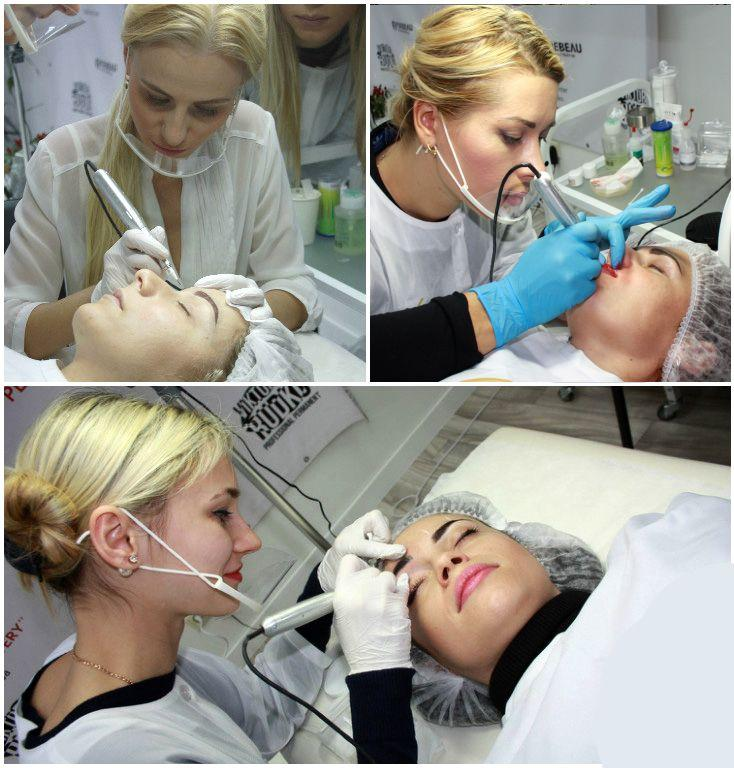There is not a bit of pain! With a use of anesthetic, permanent makeup is an absolutely comfortable procedure!