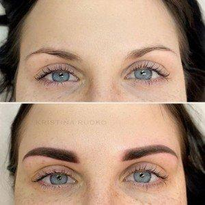 Permanent makeup seems more dense than desirable after procedure and fades during healing