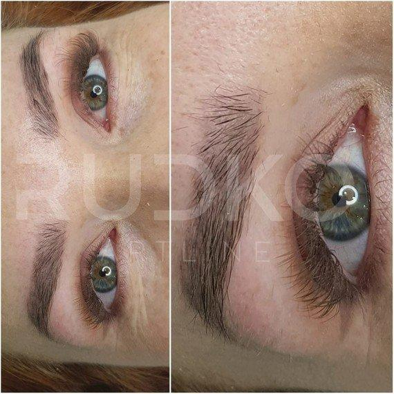 permanent make-up of eyebrows photo in a month